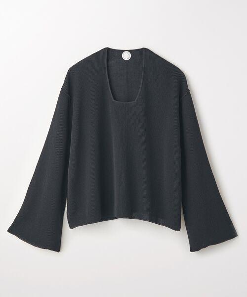 STYLE & EDIT / スタイル&エディット ニット・セーター   サマーニット(ブラック)