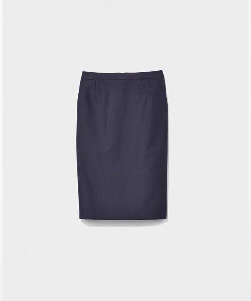 SUIT CLOSET / スーツクローゼット ミニ・ひざ丈スカート   タイトスカート(ブルー)
