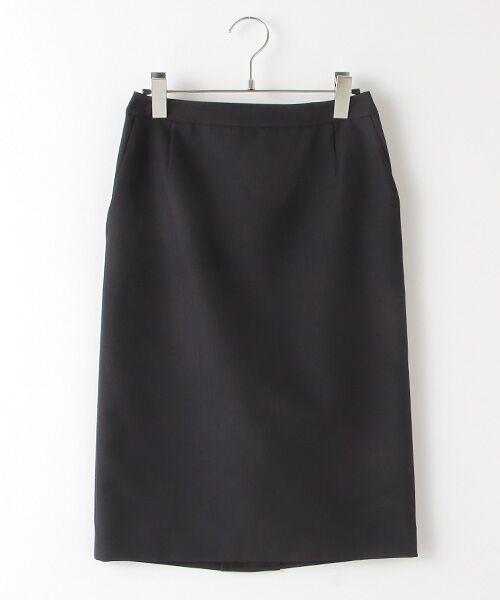 SUIT CLOSET / スーツクローゼット ミニ・ひざ丈スカート   タイトスカート(ネイビー)
