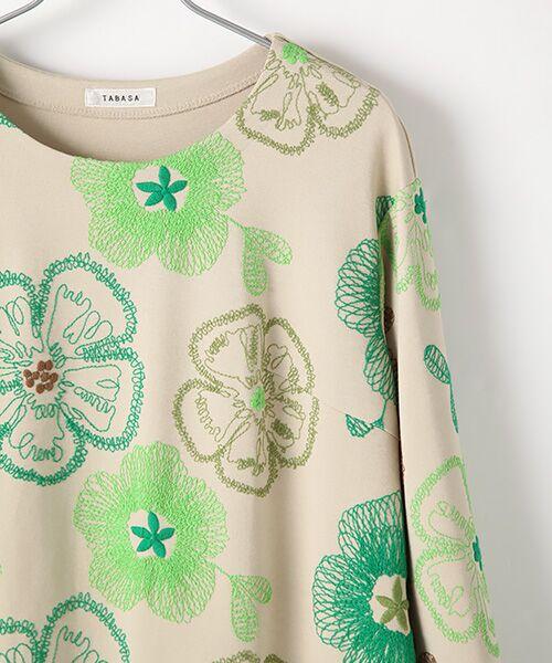 TABASA / タバサ ロング・マキシ丈ワンピース | レーヨンポリエステルストレッチポンチフラワー刺繍ワンピース | 詳細2