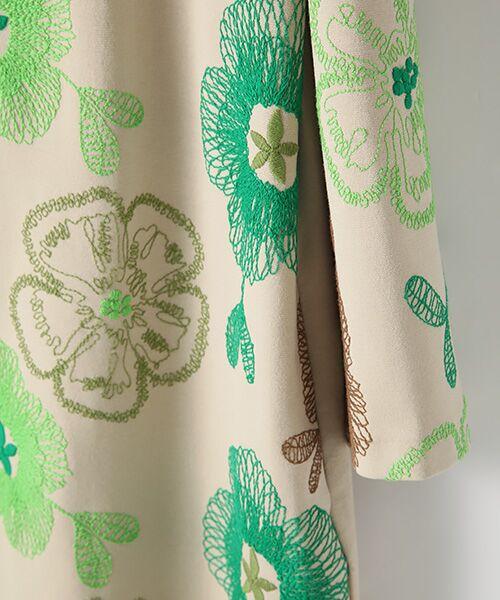 TABASA / タバサ ロング・マキシ丈ワンピース | レーヨンポリエステルストレッチポンチフラワー刺繍ワンピース | 詳細3