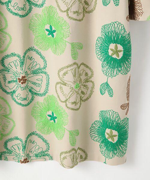 TABASA / タバサ ロング・マキシ丈ワンピース | レーヨンポリエステルストレッチポンチフラワー刺繍ワンピース | 詳細4