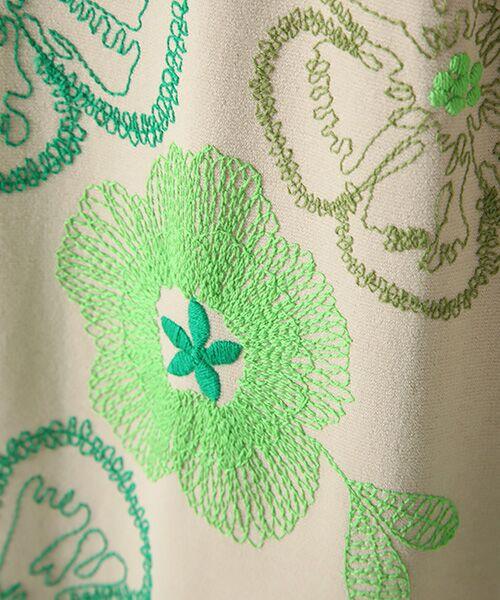 TABASA / タバサ ロング・マキシ丈ワンピース | レーヨンポリエステルストレッチポンチフラワー刺繍ワンピース | 詳細5