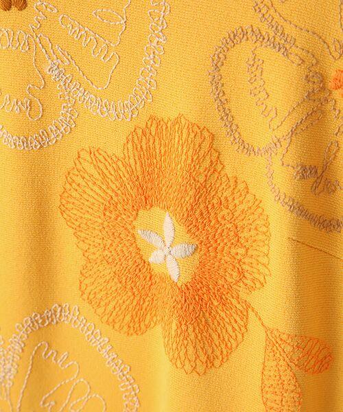 TABASA / タバサ ロング・マキシ丈ワンピース | レーヨンポリエステルストレッチポンチフラワー刺繍ワンピース | 詳細6
