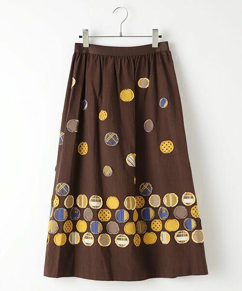 TABASA / タバサ ミニ・ひざ丈スカート | ドットパネルジャガードスカート | 詳細3