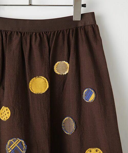 TABASA / タバサ ミニ・ひざ丈スカート | ドットパネルジャガードスカート | 詳細5