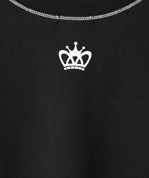 TABASA / タバサ ロング・マキシ丈ワンピース | コットン裏毛王冠プリント半袖ワンピース | 詳細1