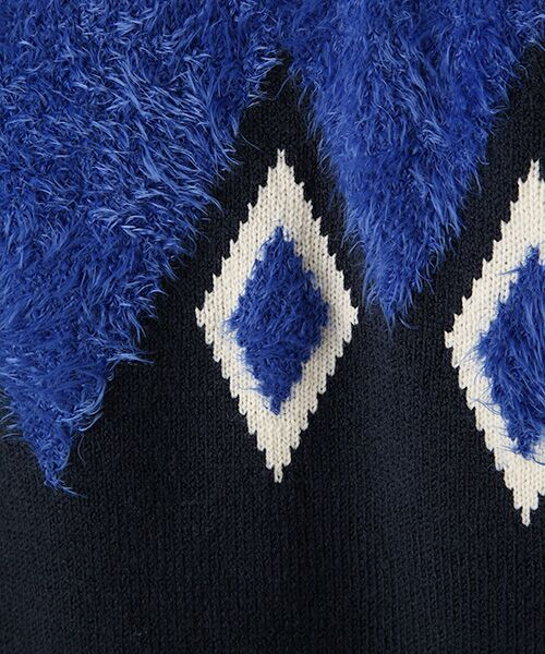 TABASA / タバサ ニット・セーター | ダイヤ柄ニットプルオーバーニット | 詳細5
