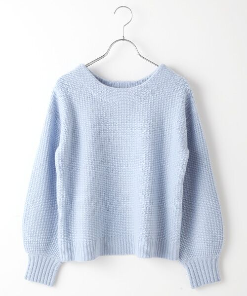 TAKASHIMAYA OUTLET / タカシマヤ アウトレット ニット・セーター   袖ボリューム片畦ニット(T.BLUE)