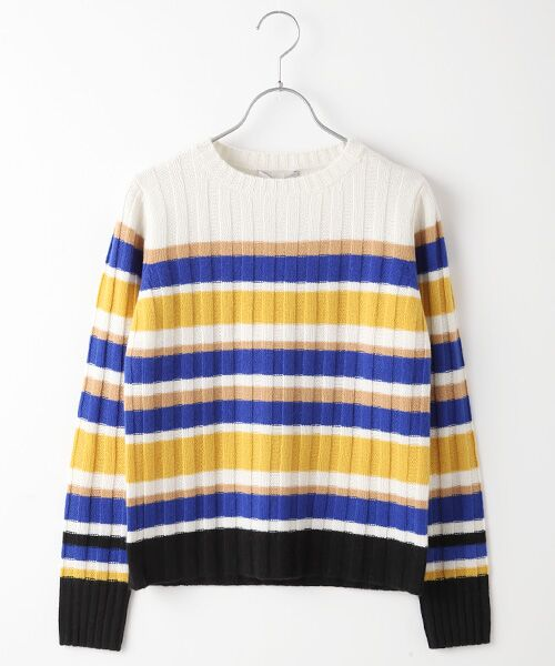TAKASHIMAYA OUTLET / タカシマヤ アウトレット ニット・セーター | マルチボーダーリブ(WHITE)