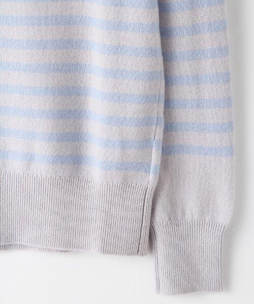 TAKASHIMAYA OUTLET / タカシマヤ アウトレット ニット・セーター   肩ボタン付ボーダー   詳細4