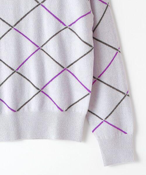 TAKASHIMAYA OUTLET / タカシマヤ アウトレット ニット・セーター | ダイヤ柄インターシャクルーネック | 詳細3