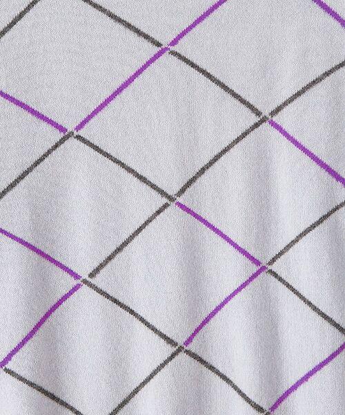 TAKASHIMAYA OUTLET / タカシマヤ アウトレット ニット・セーター | ダイヤ柄インターシャクルーネック | 詳細4