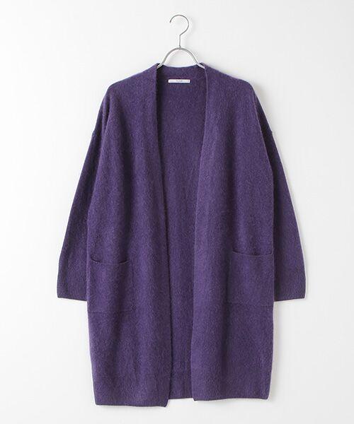 TAKASHIMAYA OUTLET / タカシマヤ アウトレット ニット・セーター | ファー加工カーディガン(VIOLET)
