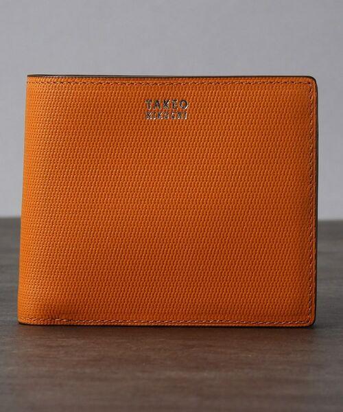 TAKEO KIKUCHI/タケオキクチ ミニメッシュ2つ折り財布 [ メンズ 財布 サイフ 定番 二つ折り ギフト プレゼント ] オレンジ(567) 00