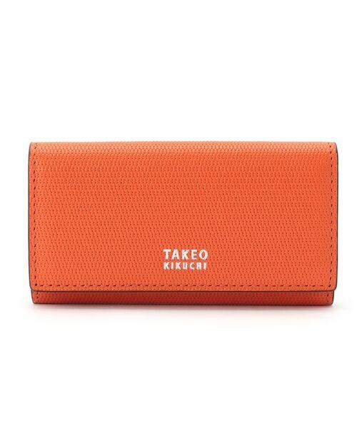 TAKEO KIKUCHI / タケオキクチ キーケース | ミニメッシュキーケース [ メンズ キーケース 定番 ギフト プレゼント ](オレンジ(567))