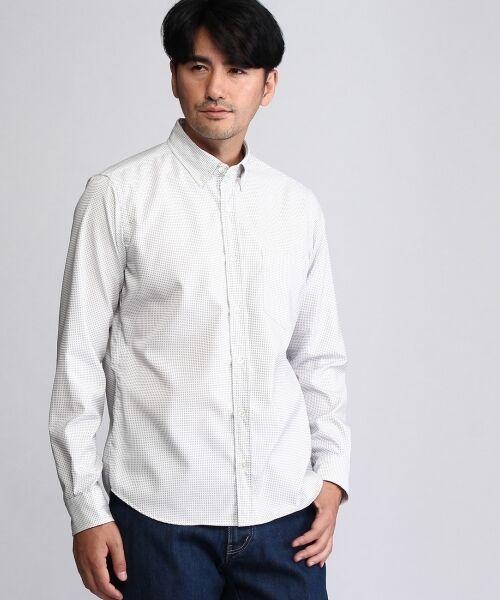 【ON/OFF】刺し子ドットシャツ