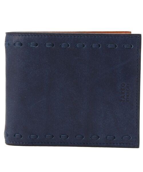 9722610c2ecb TAKEO KIKUCHI / タケオキクチ 財布・コインケース・マネークリップ | インディゴ染2つ折り財布