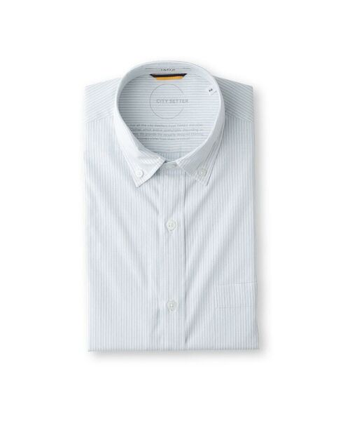 TAKEO KIKUCHI / タケオキクチ シャツ・ブラウス | CS_オルタネートカラーストライプ 半袖 シャツ | 詳細1