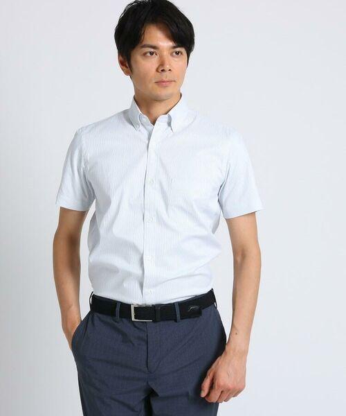TAKEO KIKUCHI / タケオキクチ シャツ・ブラウス | CS_オルタネートカラーストライプ 半袖 シャツ | 詳細12