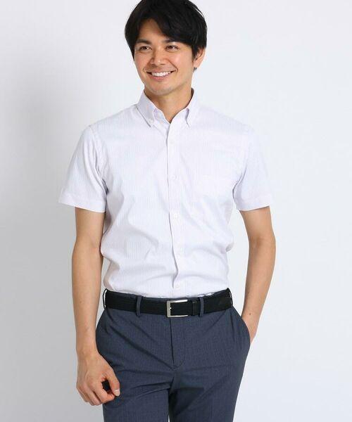 TAKEO KIKUCHI / タケオキクチ シャツ・ブラウス | CS_オルタネートカラーストライプ 半袖 シャツ | 詳細2