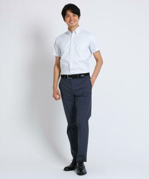 TAKEO KIKUCHI / タケオキクチ シャツ・ブラウス | CS_オルタネートカラーストライプ 半袖 シャツ | 詳細3