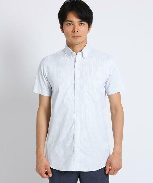 TAKEO KIKUCHI / タケオキクチ シャツ・ブラウス | CS_オルタネートカラーストライプ 半袖 シャツ | 詳細5