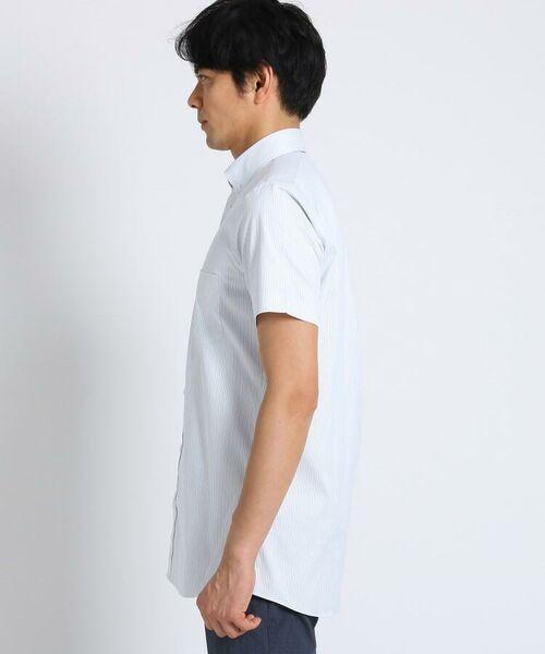 TAKEO KIKUCHI / タケオキクチ シャツ・ブラウス | CS_オルタネートカラーストライプ 半袖 シャツ | 詳細6