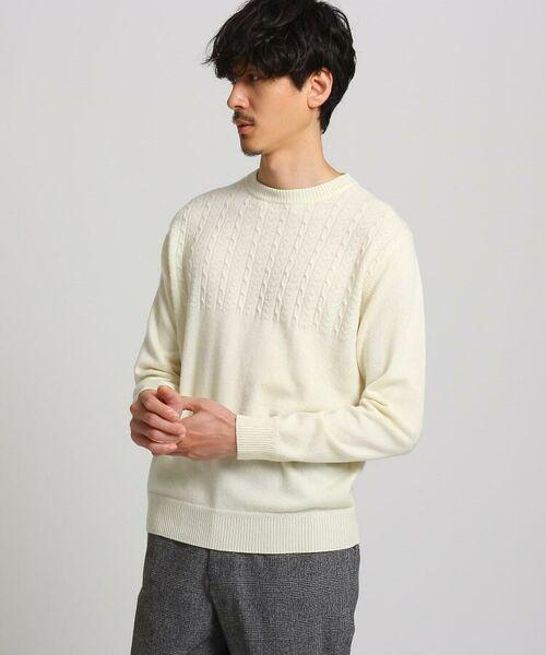 TAKEO KIKUCHI / タケオキクチ ニット・セーター | フルカシ クルーネック ニット(ホワイト(001))