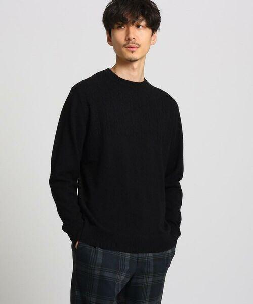 TAKEO KIKUCHI / タケオキクチ ニット・セーター | フルカシ クルーネック ニット(ブラック(019))