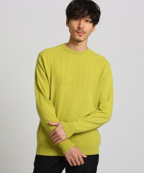 TAKEO KIKUCHI / タケオキクチ ニット・セーター | フルカシ クルーネック ニット(アップルグリーン(025))