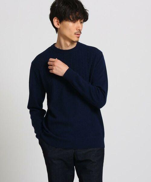 TAKEO KIKUCHI / タケオキクチ ニット・セーター | フルカシ クルーネック ニット(ネイビー(093))