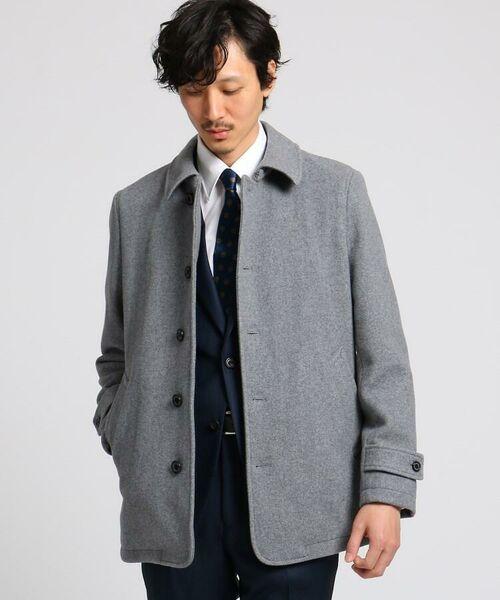 TAKEO KIKUCHI / タケオキクチ ステンカラーコート | メルトンカーコート(グレー(012))