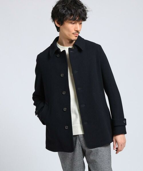 TAKEO KIKUCHI / タケオキクチ ステンカラーコート | メルトンカーコート(ネイビー(093))