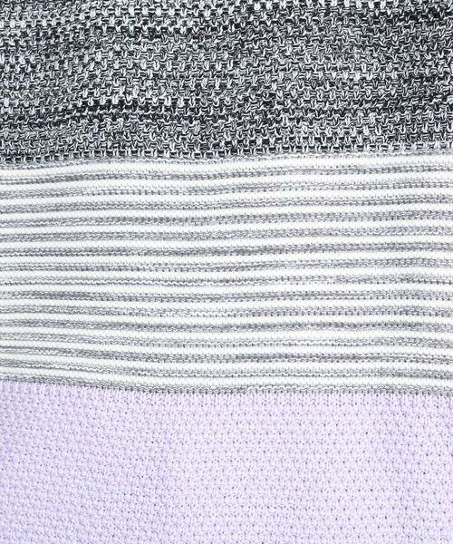TAKEO KIKUCHI / タケオキクチ ニット・セーター | 【Sサイズ~】コットンアクリル メランジパネルボーダーニット | 詳細22