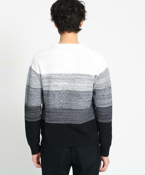 TAKEO KIKUCHI / タケオキクチ ニット・セーター | 【Sサイズ~】コットンアクリル メランジパネルボーダーニット | 詳細28