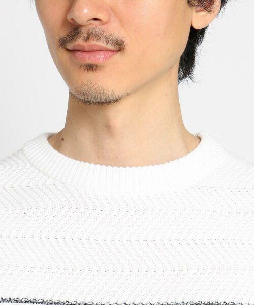 TAKEO KIKUCHI / タケオキクチ ニット・セーター | 【Sサイズ~】コットンアクリル メランジパネルボーダーニット | 詳細29