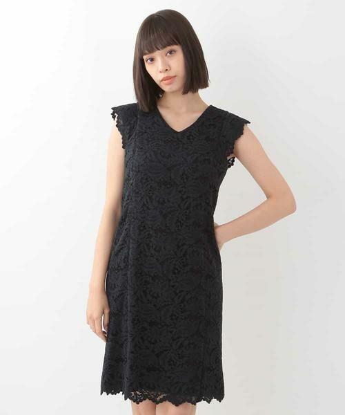 2c0bf83836fa3 Vネックレースドレス (ドレス)|TARA JARMON   タラジャーモン ...