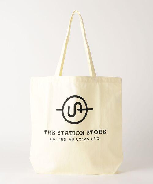 THE STATION STORE UNITED ARROWS LTD. / ザ ステーション ストア ユナイテッドアローズ トートバッグ | <ST> ロゴ トートバッグ L(WHITE)
