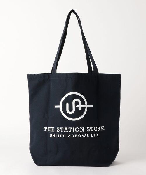 THE STATION STORE UNITED ARROWS LTD. / ザ ステーション ストア ユナイテッドアローズ トートバッグ | <ST> ロゴ トートバッグ L(NAVY)