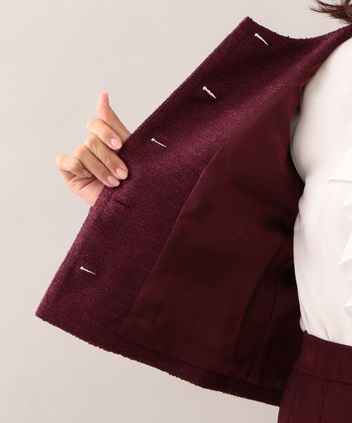 TO BE CHIC (大きいサイズ) / トゥー ビー シック (オオキイサイズ) テーラードジャケット | 【L】スラブツイードノーカラージャケット | 詳細9
