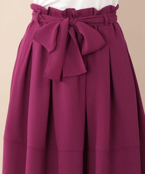 TO BE CHIC (大きいサイズ) / トゥー ビー シック (オオキイサイズ) ロング・マキシ丈スカート | 【L】【ウォッシャブル】スポンジージョーゼットスカート | 詳細10