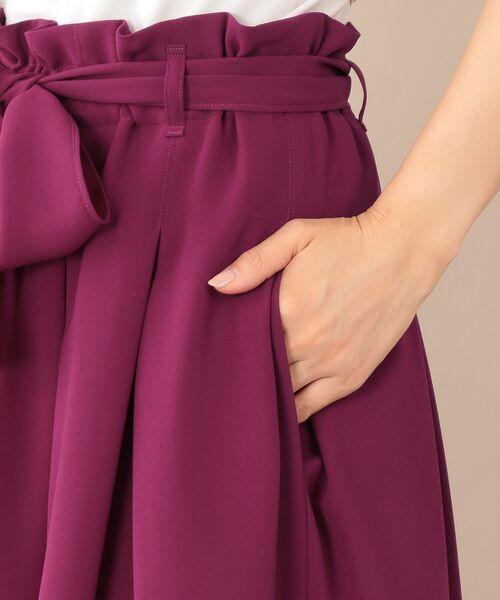 TO BE CHIC (大きいサイズ) / トゥー ビー シック (オオキイサイズ) ロング・マキシ丈スカート | 【L】【ウォッシャブル】スポンジージョーゼットスカート | 詳細11