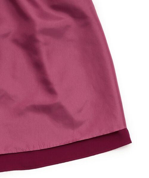 TO BE CHIC (大きいサイズ) / トゥー ビー シック (オオキイサイズ) ロング・マキシ丈スカート | 【L】【ウォッシャブル】スポンジージョーゼットスカート | 詳細13