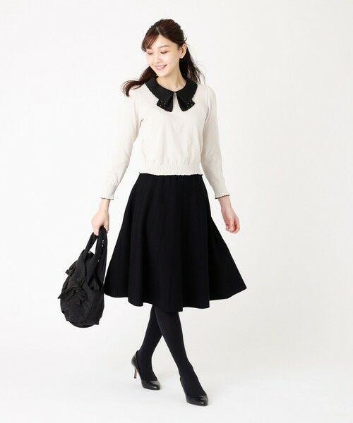 TO BE CHIC / トゥー ビー シック ロング・マキシ丈スカート   ピークスニットスカート   詳細6