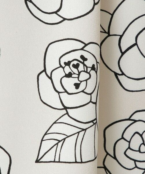 TO BE CHIC / トゥー ビー シック ロング・マキシ丈スカート | カメリアプリントスカート | 詳細12