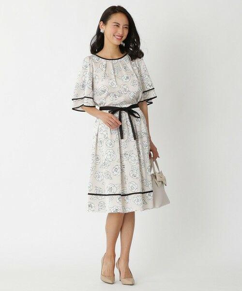 TO BE CHIC / トゥー ビー シック ロング・マキシ丈スカート | カメリアプリントスカート | 詳細4