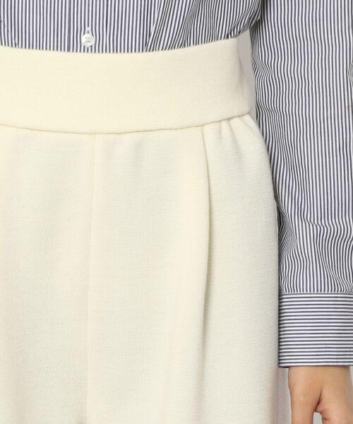 TOMORROWLAND / トゥモローランド ショート・ハーフ・半端丈パンツ | ウールミラノリブ ガウチョパンツ | 詳細4