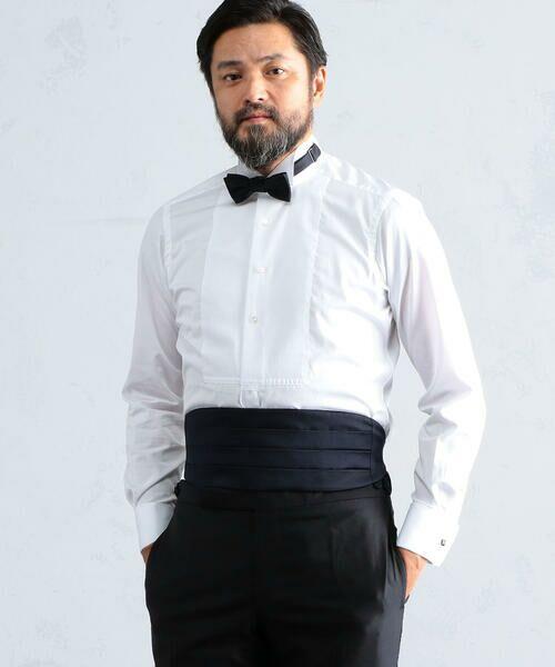 140/2コットンブロード ウィングカラー ドレスシャツ