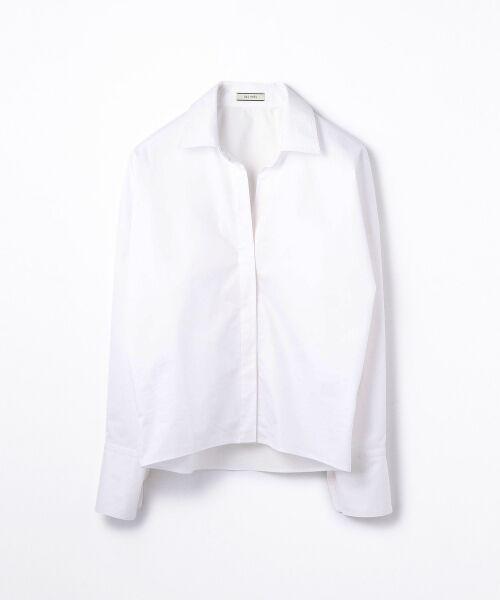 TOMORROWLAND / トゥモローランド シャツ・ブラウス | コットンポリエステルツイル ビッグシャツ(11 ホワイト)